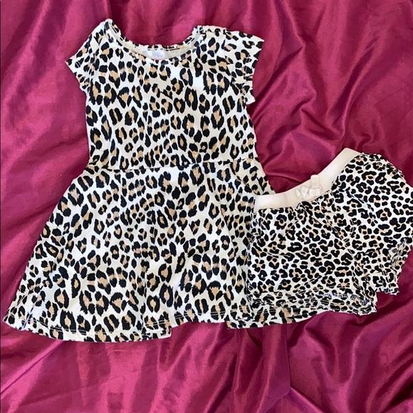 Leopard print dress and shorts